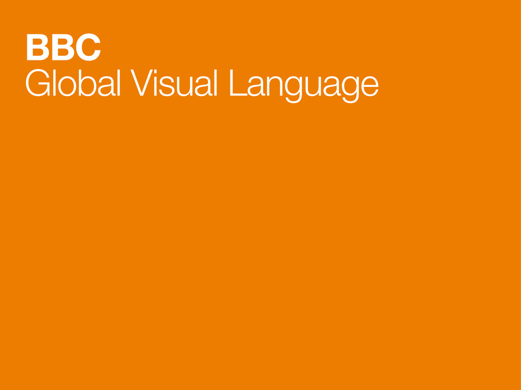 BBC Global Visual Language