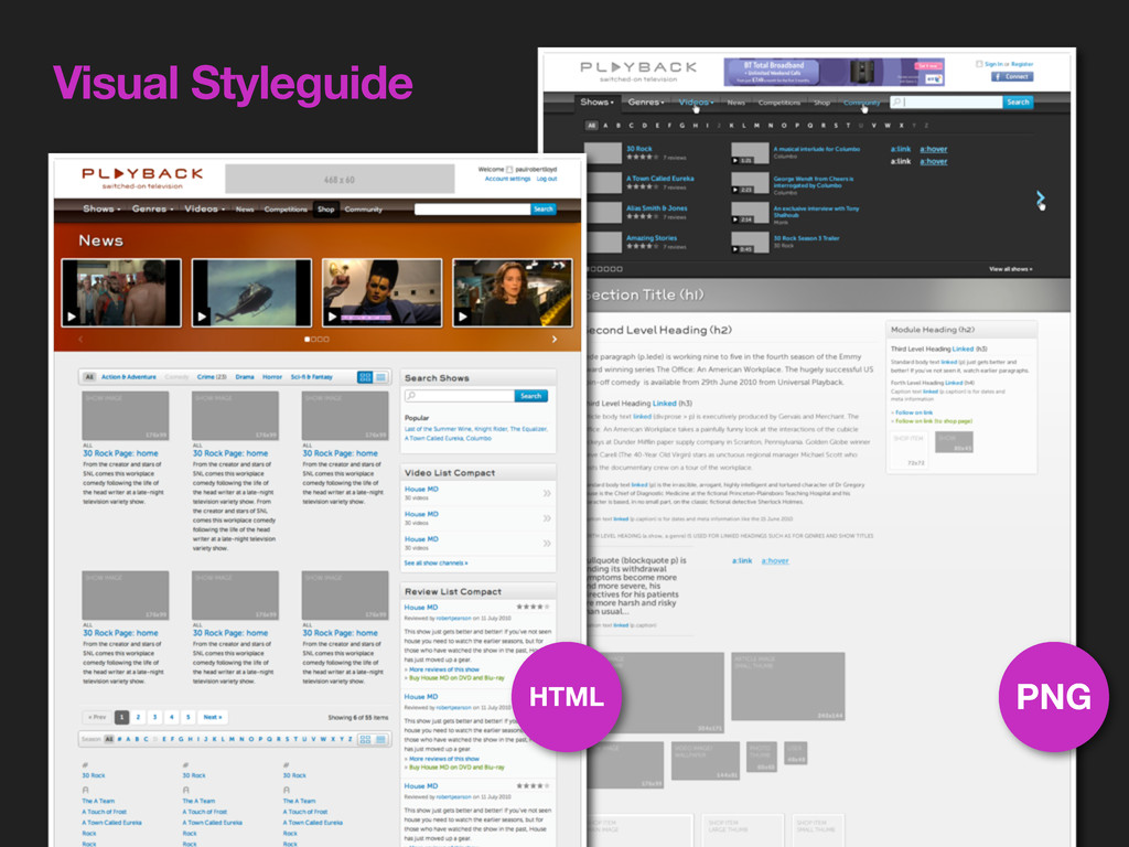 Visual Styleguide PNG HTML