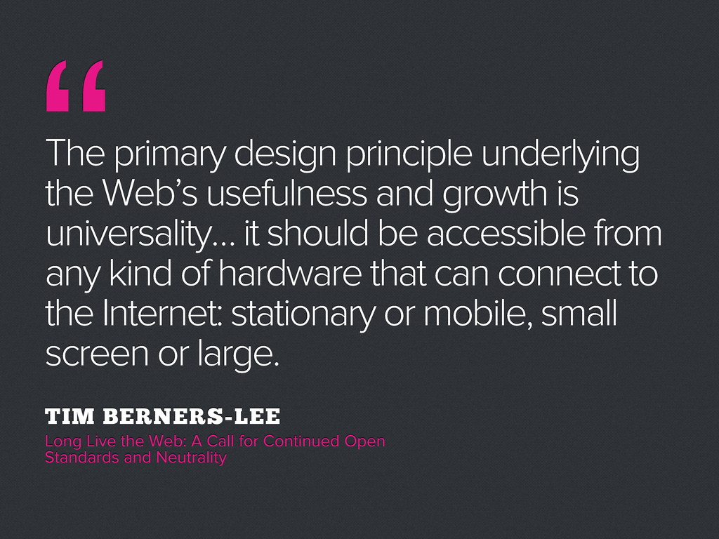 """ The primary design principle underlying the W..."