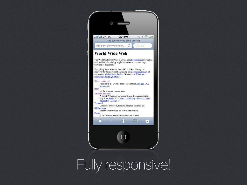 Fully responsive!