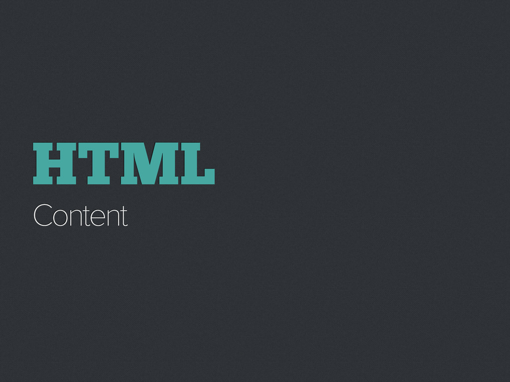 HTML Content