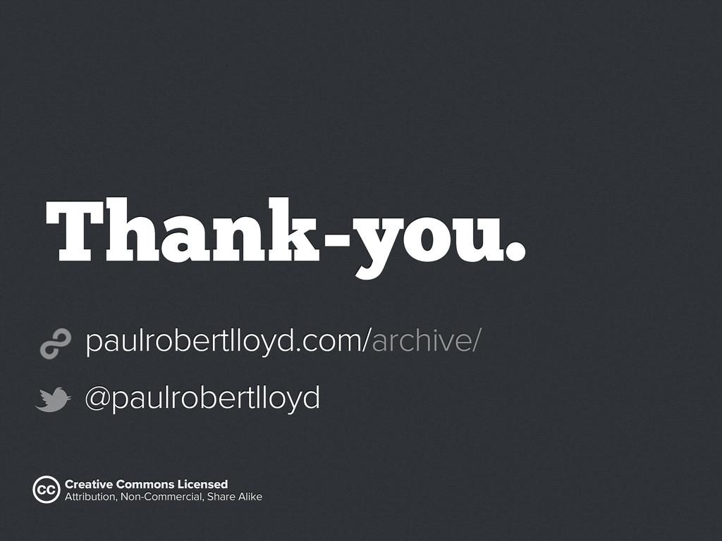paulrobertlloyd.com/archive/ @paulrobertlloyd C...