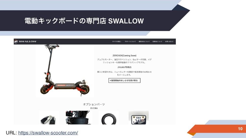 ిಈΩοΫϘʔυͷઐళ SWALLOW 10 URL: https://swallow-sc...