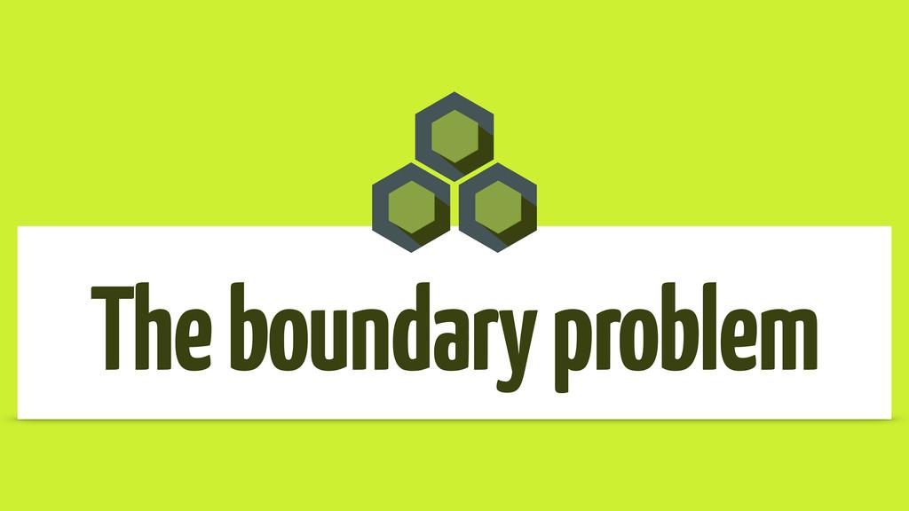 The boundary problem