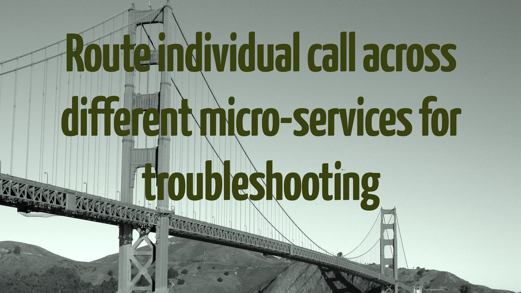 Route individual call across different micro-se...