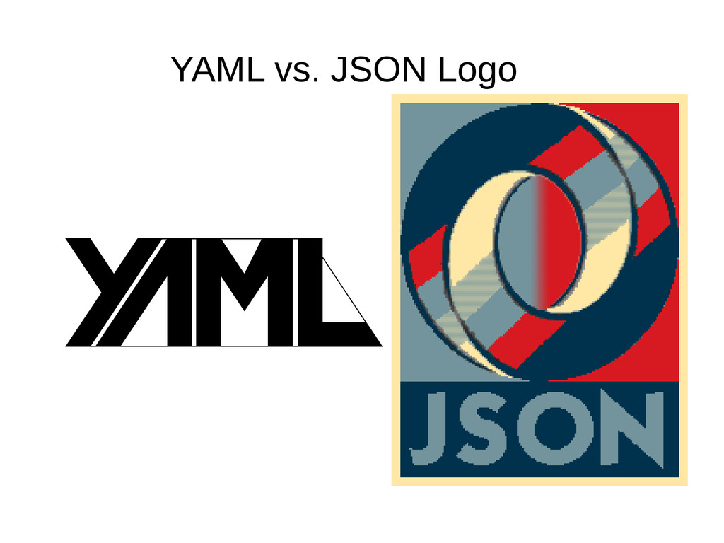 YAML vs. JSON Logo