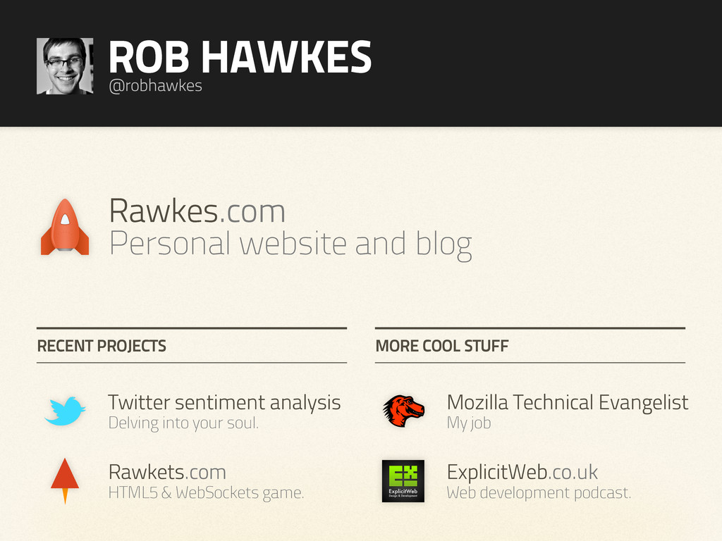 Rawkets.com HTML5 & WebSockets game. Twitter se...