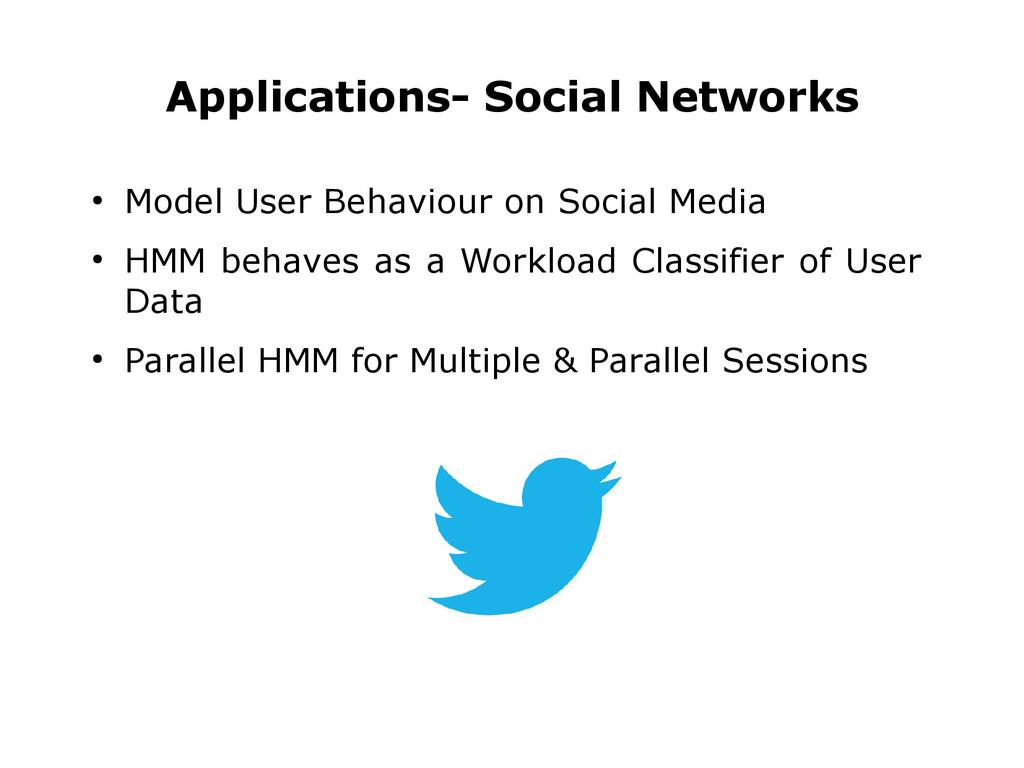 ● Model User Behaviour on Social Media ● HMM be...