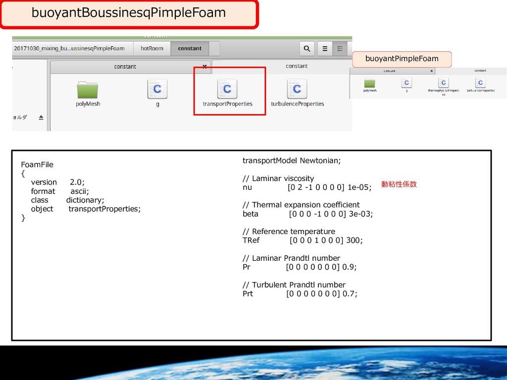 buoyantBoussinesqPimpleFoam FoamFile { version ...