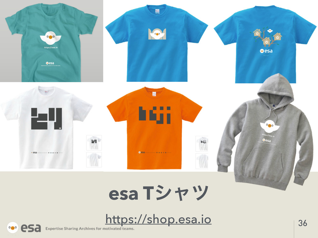 esa Tγϟπ https://shop.esa.io 36