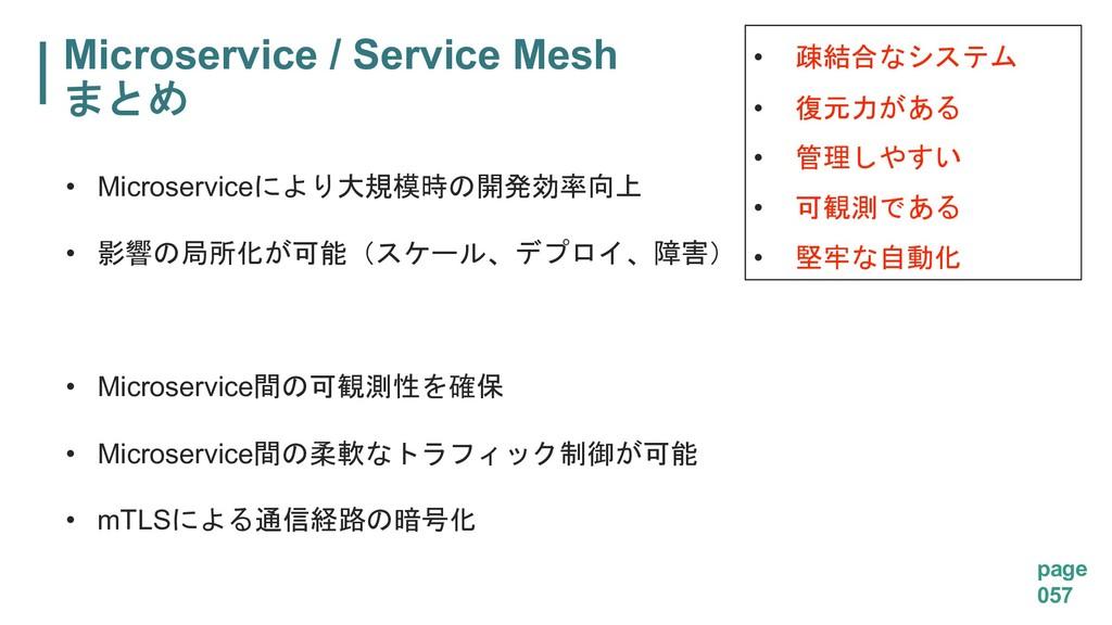 Microservice / Service Mesh  page 057 • Micr...