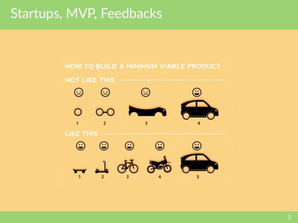 Startups, MVP, Feedbacks 5