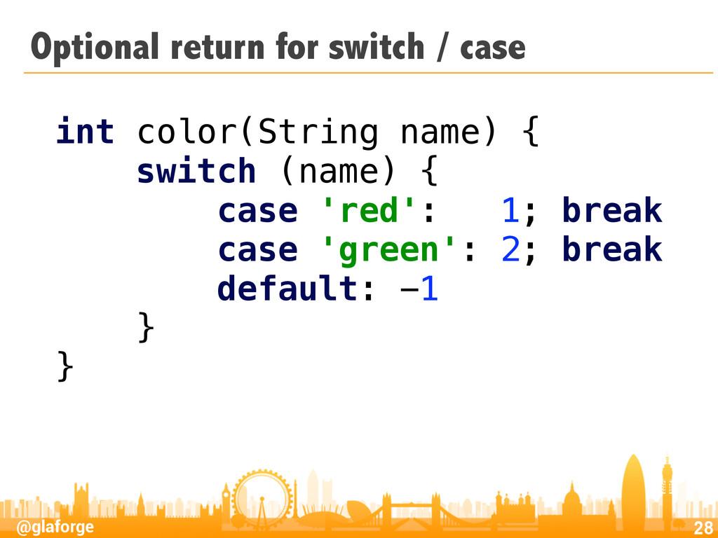 @glaforge Optional return for switch / case 28 ...