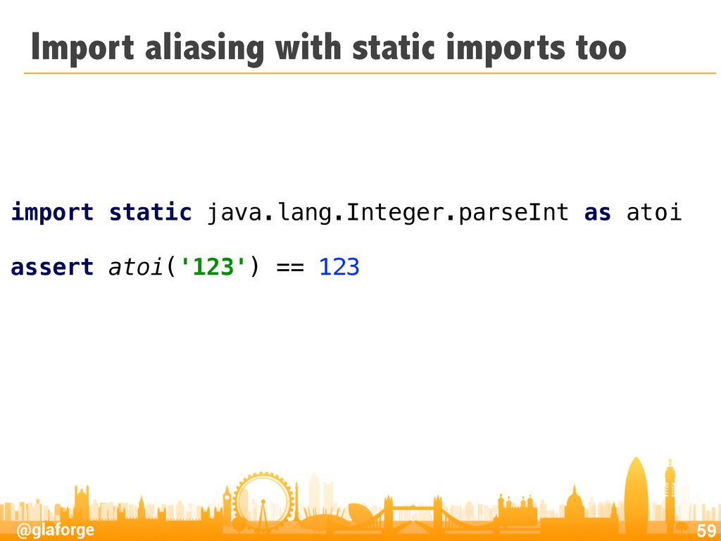 @glaforge Import aliasing with static imports t...