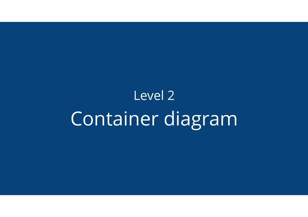 Level 2 Container diagram