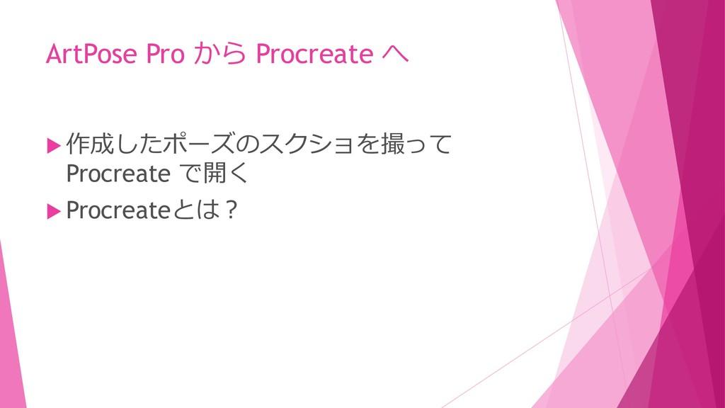 ArtPose Pro から Procreate へ  作成したポーズのスクショを撮って P...