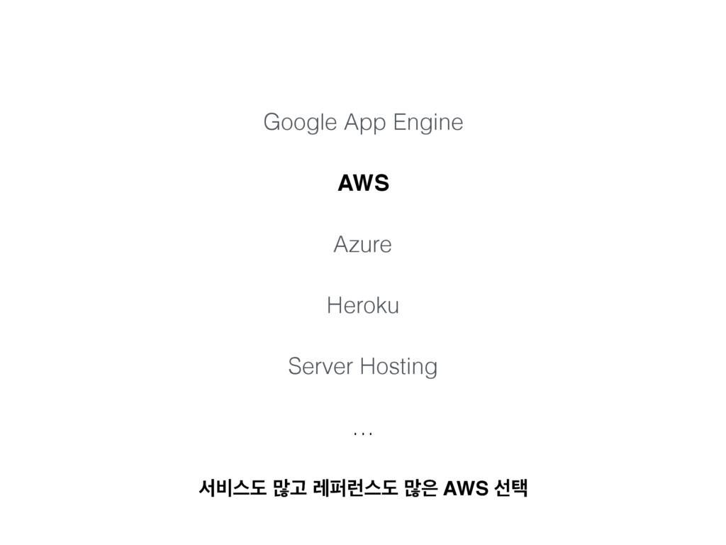 Google App Engine AWS Azure Heroku Server Hosti...