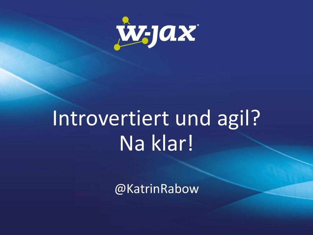 Introvertiert und agil? Na klar! @KatrinRabow