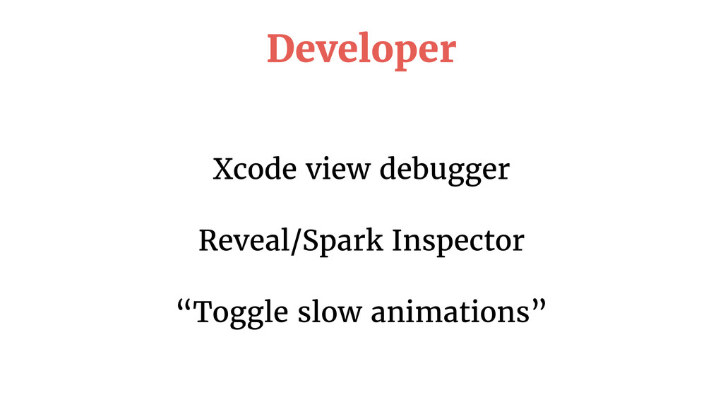 "Xcode view debugger Reveal/Spark Inspector ""Tog..."