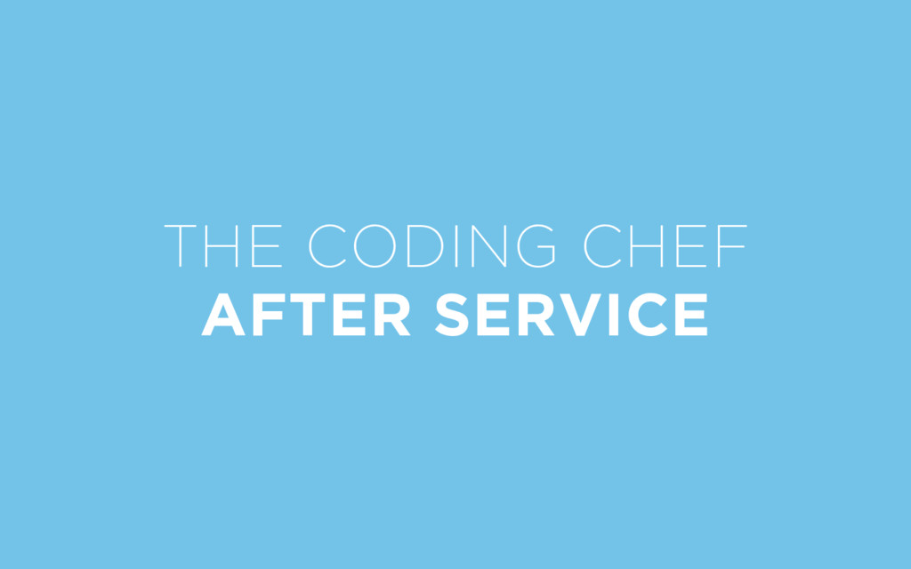 THE CODING CHEF AFTER SERVICE