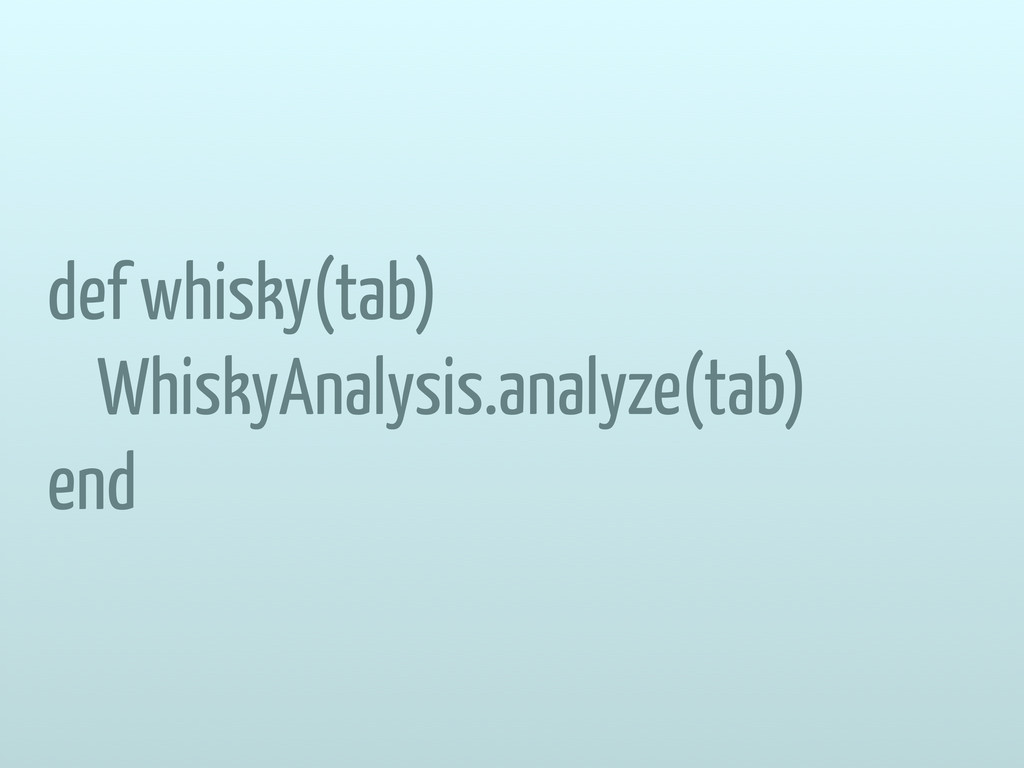def whisky(tab) WhiskyAnalysis.analyze(tab) end