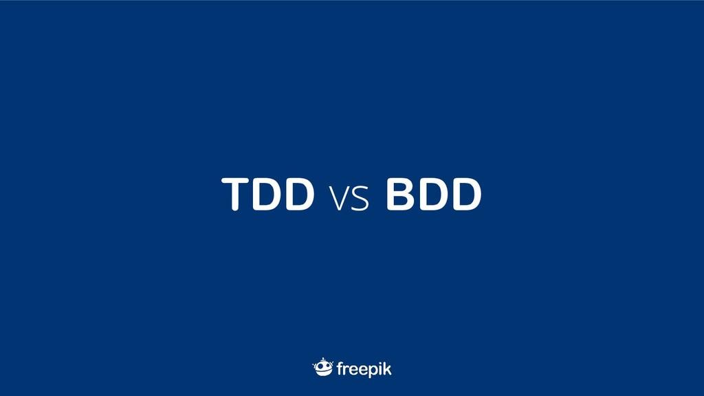 TDD vs BDD