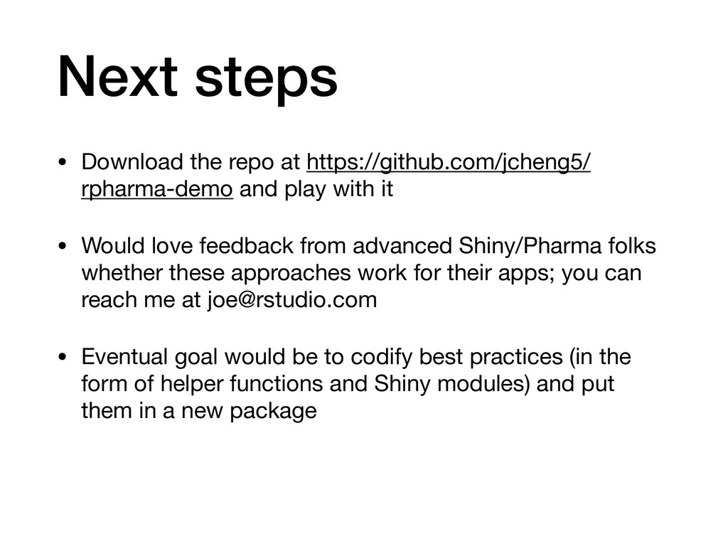 Next steps • Download the repo at https://githu...