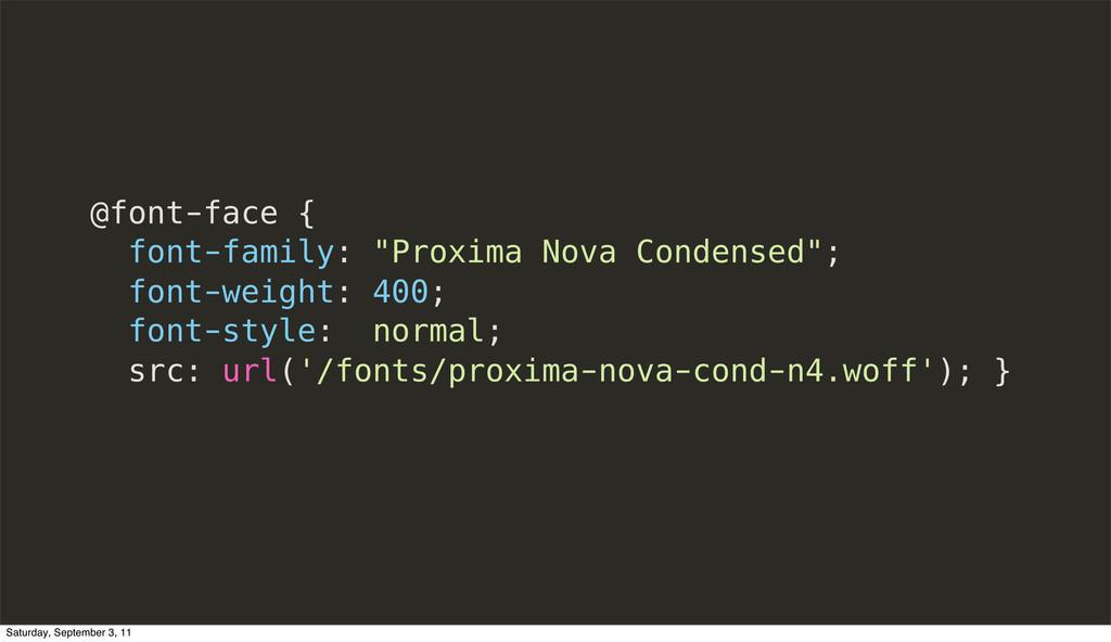 """@font-face { font-family: """"Proxima Nova Condens..."""