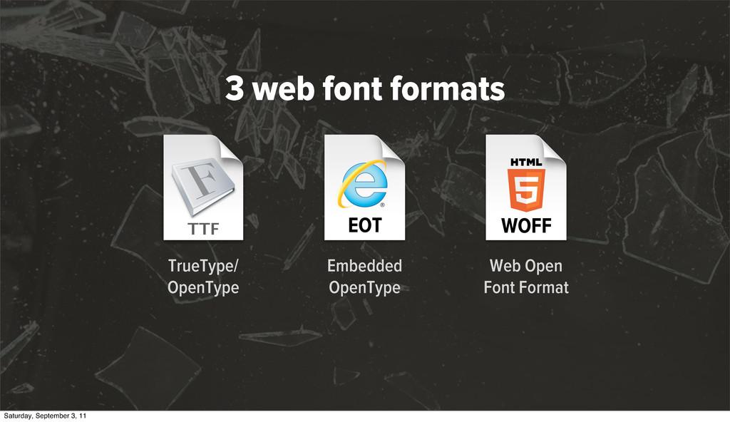 EOT Embedded OpenType TrueType/ OpenType WOFF W...