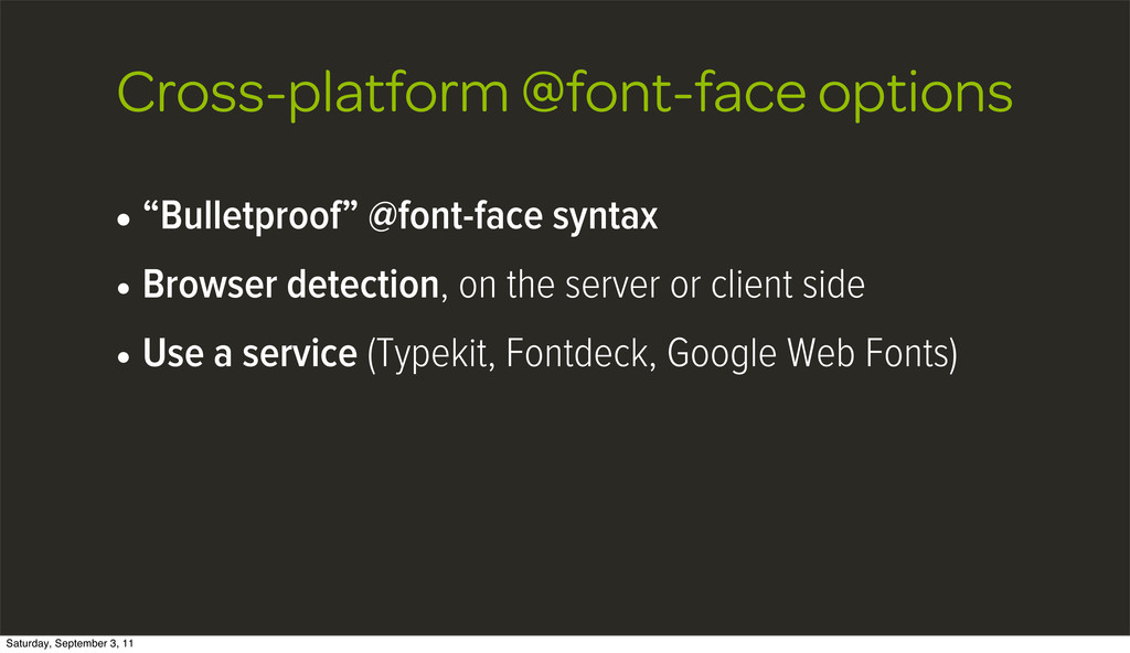 "Cross-platform @font-face options • ""Bulletproo..."