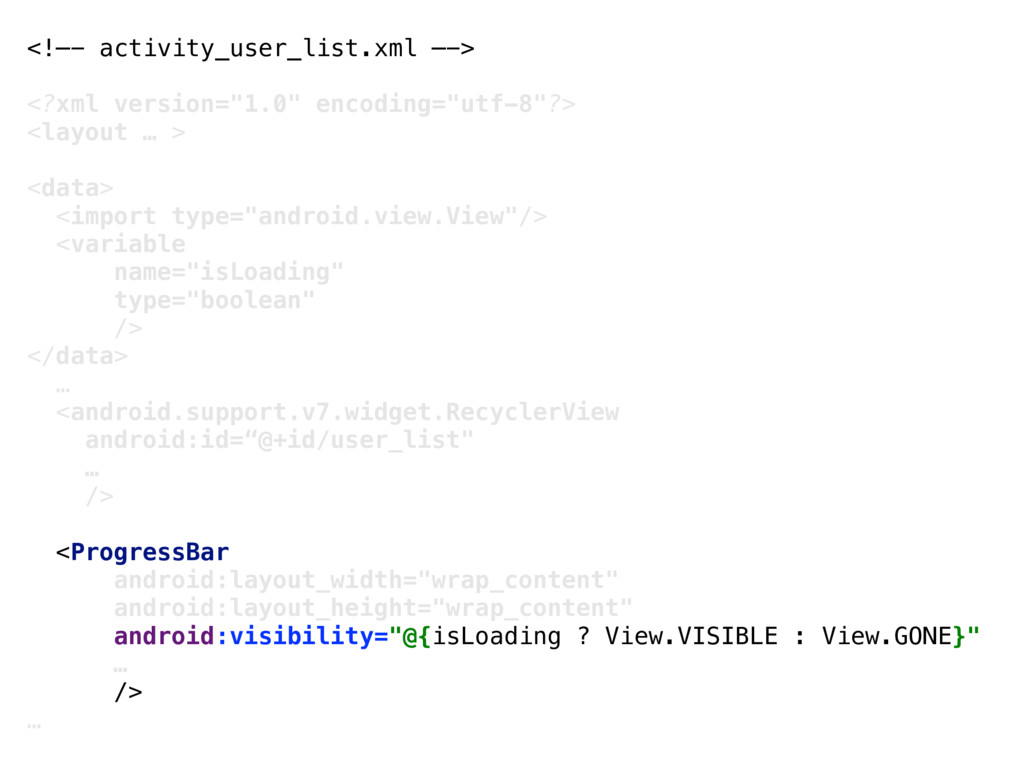 "<!—- activity_user_list.xml —-> <?xml version=""..."