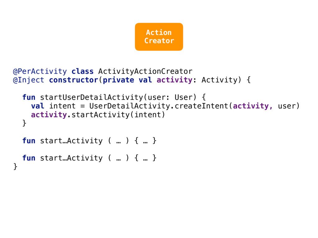 @PerActivity class ActivityActionCreator @Injec...