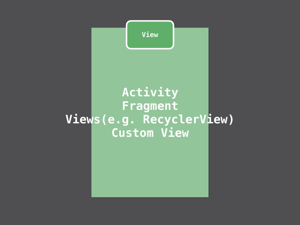 Activity Fragment Views(e.g. RecyclerView) Cust...
