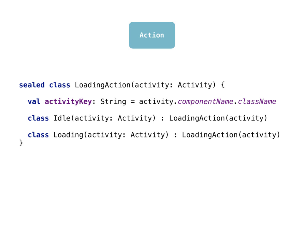 Action sealed class LoadingAction(activity: Act...