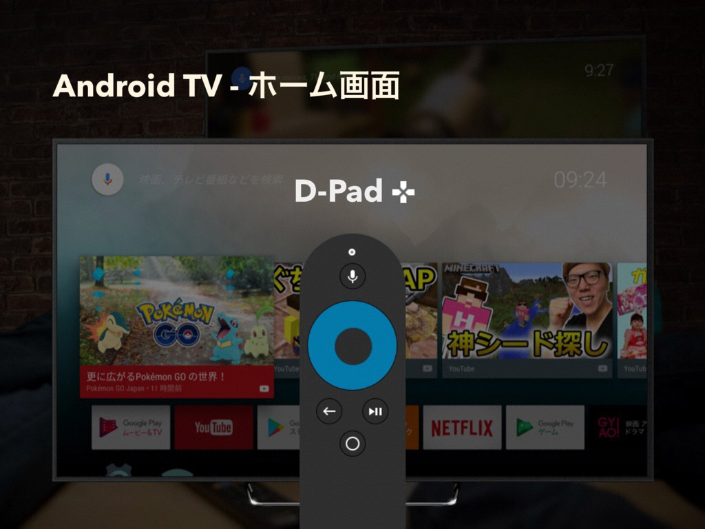 Android TV - ϗʔϜը໘ D-Pad