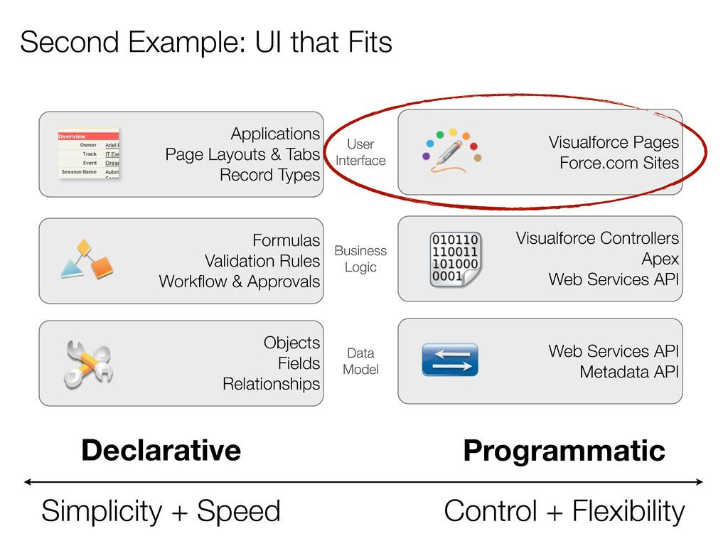 Second Example: UI that Fits Declarative Simpli...