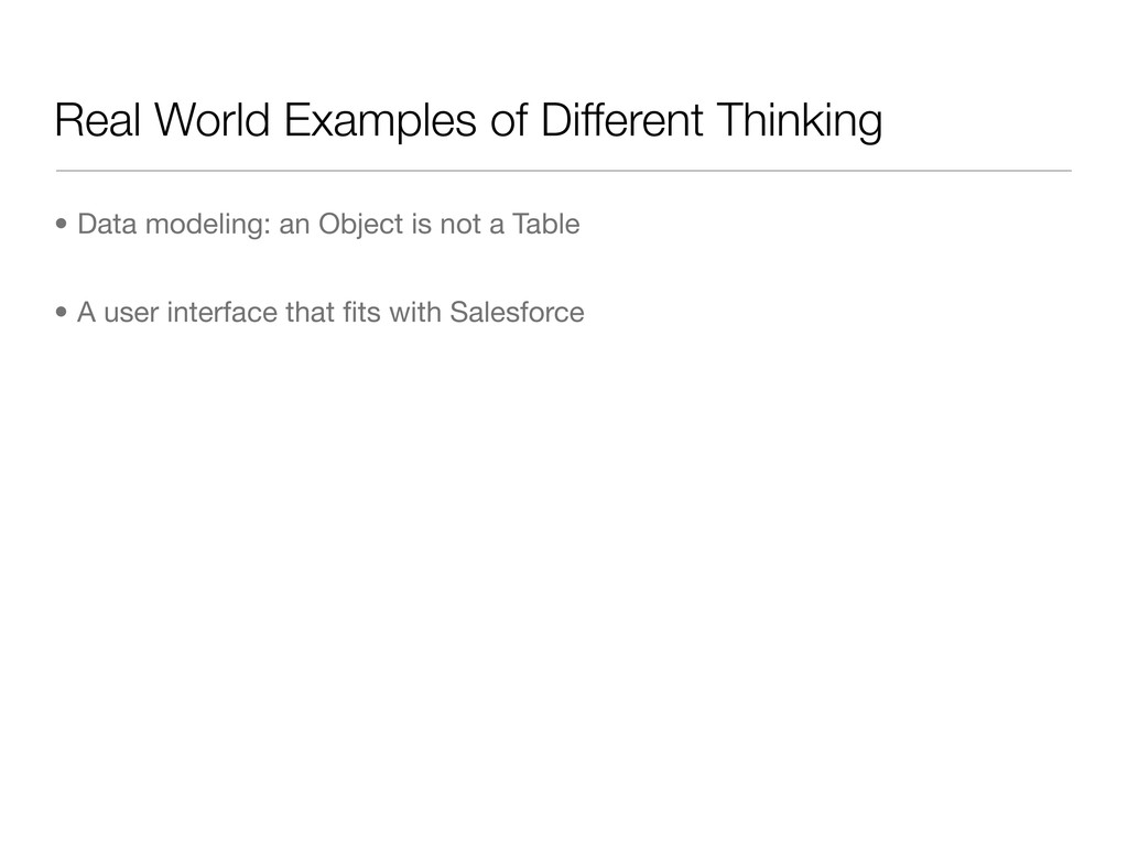 Real World Examples of Different Thinking • Dat...
