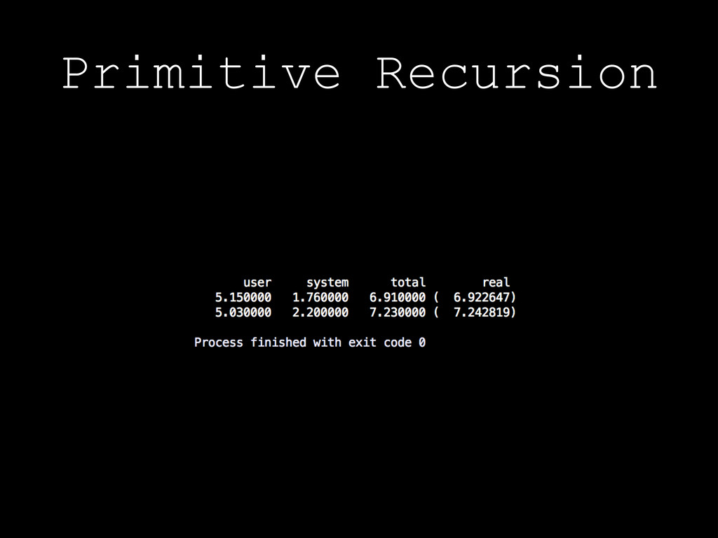 Primitive Recursion