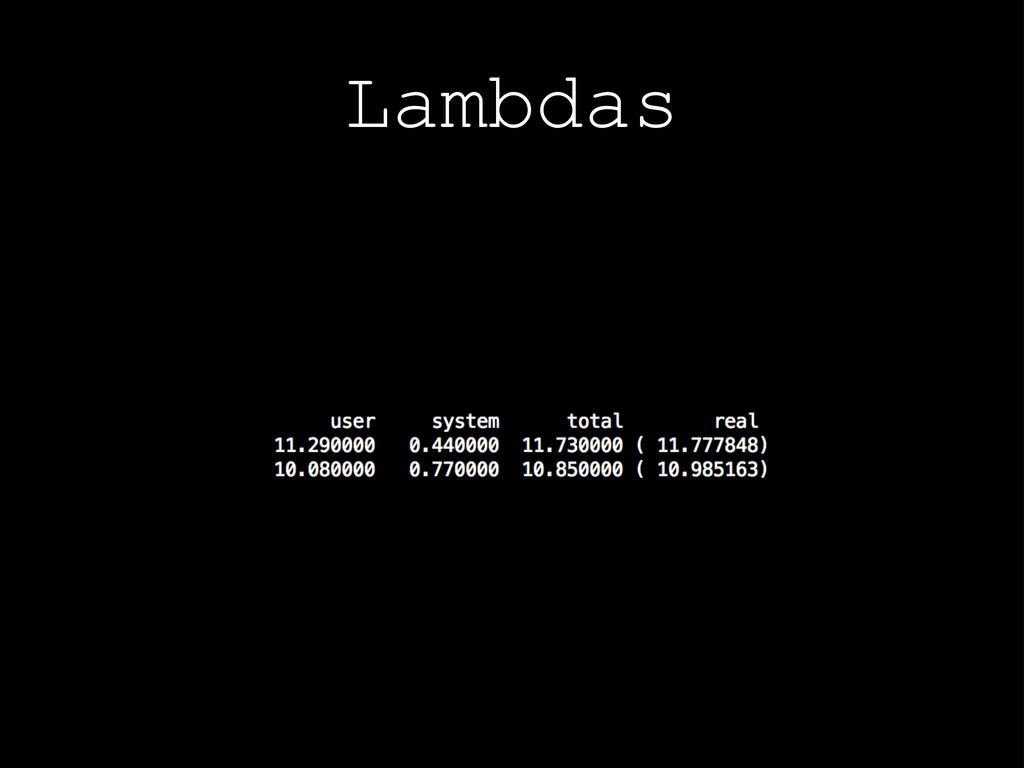 Lambdas