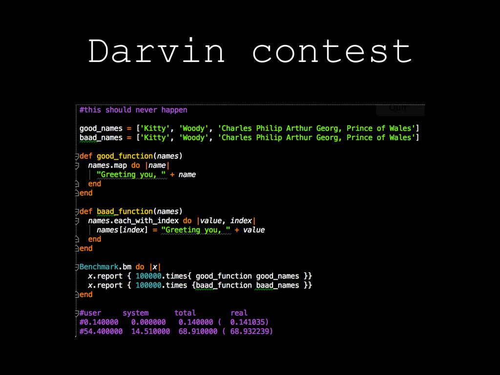 Darvin contest