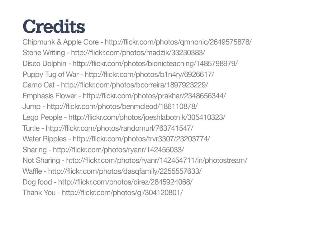Credits Chipmunk & Apple Core - http://flickr.c...