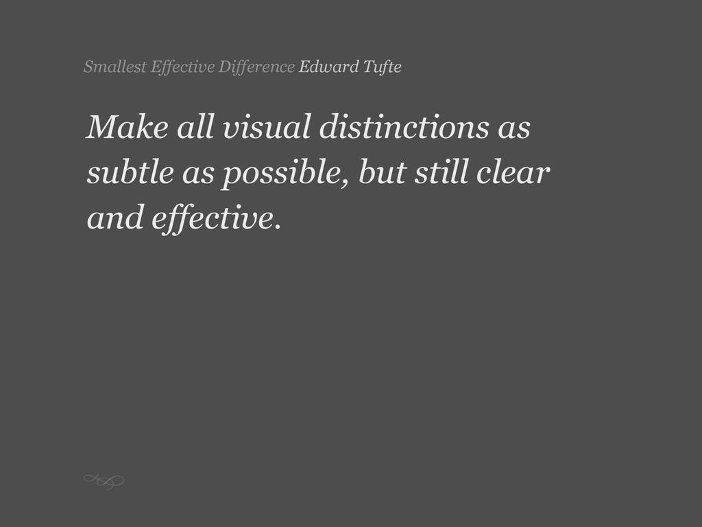 Smallest Effective Difference Edward Tufte Make...