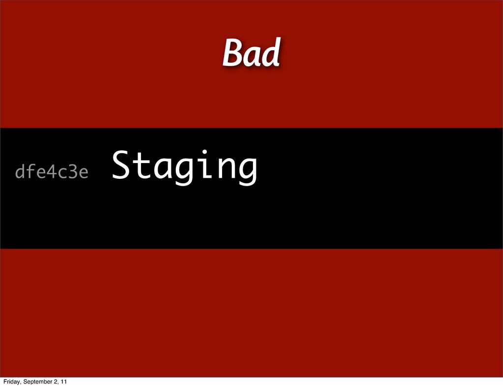 dfe4c3e Staging Bad Friday, September 2, 11
