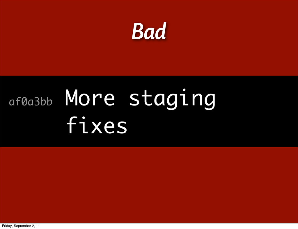 dfe4c3e Staging af0a3bb More staging fixes Bad ...