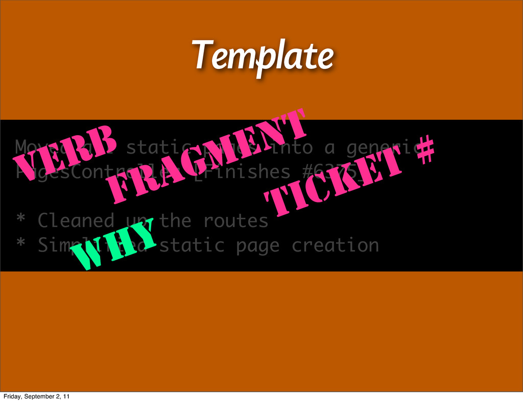 Template Moved all static pages into a generic ...