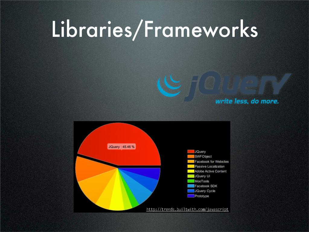 Libraries/Frameworks http://trends.builtwith.co...