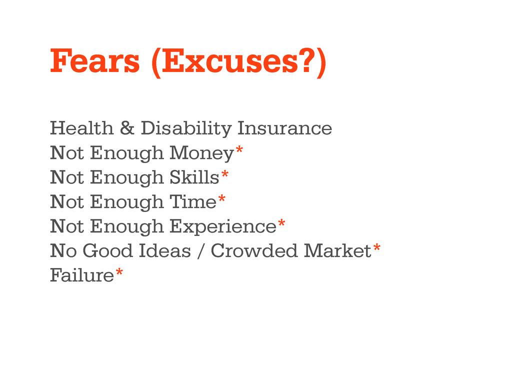 Fears (Excuses?) Health & Disability Insurance ...