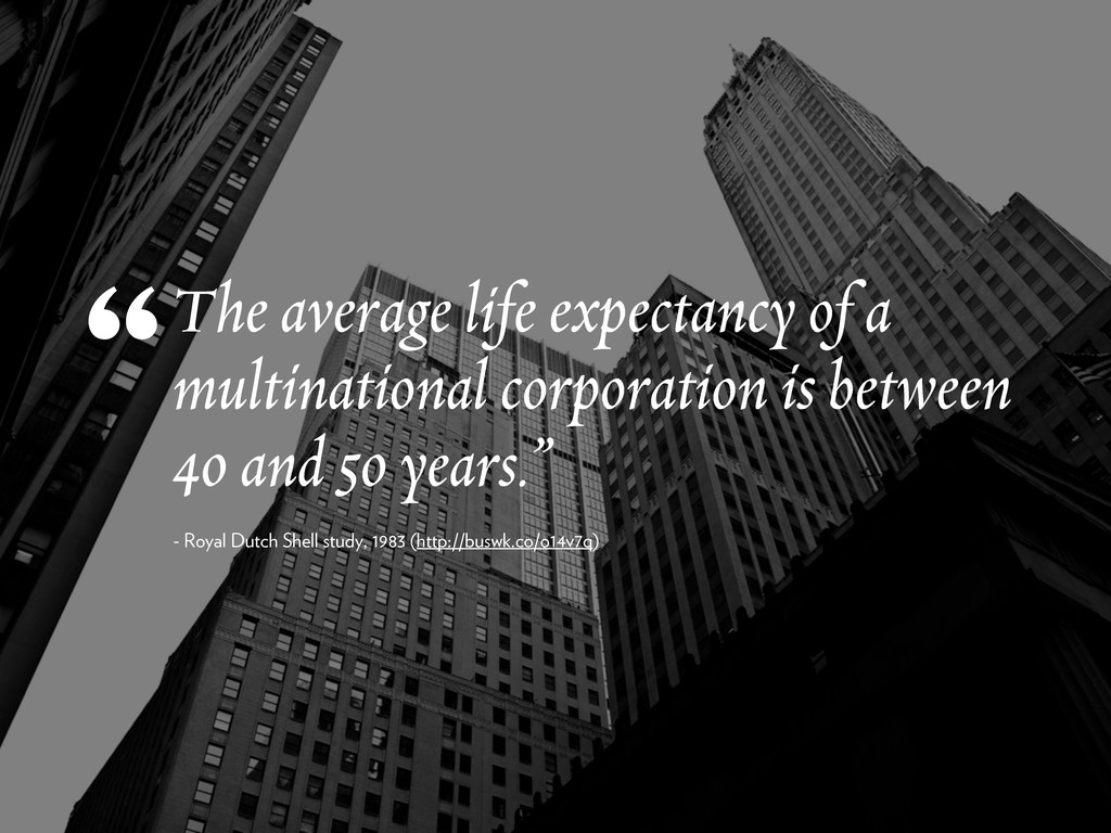 The average life expectancy of a multinational ...