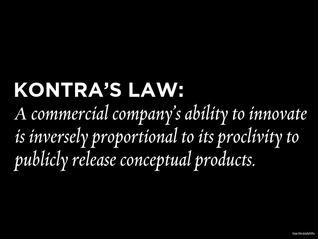 KONTRA'S LAW: A commercial company's ability to...