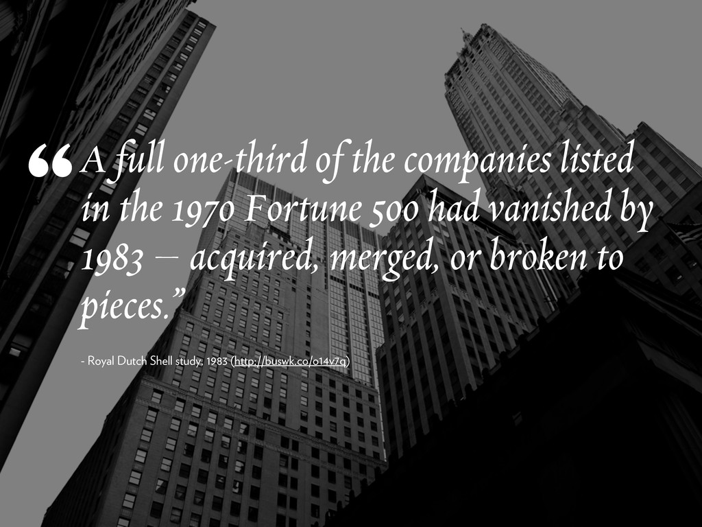 A full one-third of the companies listed in the...